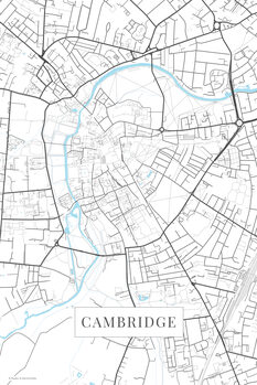 Mapa Cambridge white