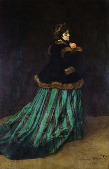 Camille, or The Woman in the Green Dress, 1866 Kunsttryk