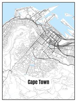 Stadtkarte von Cape Town