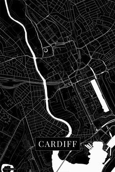 Mapa Cardiff black