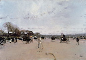Carriages on the Champs Elysees Reproduction de Tableau