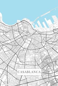 Mapa Casablanca white