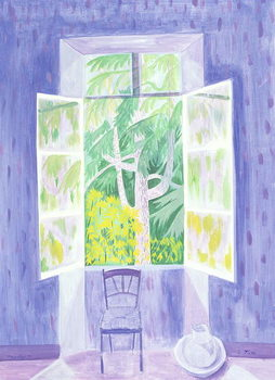 Cedars Through the Window, 1987 Kunstdruk