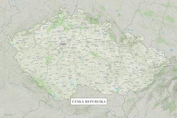 Mapa Česká republika color