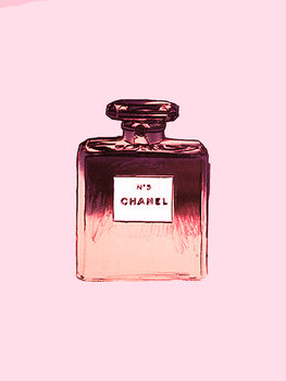 Illustration Chanel No.5 pink