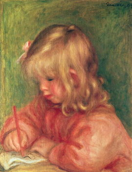 Child Drawing, 1905 Kunstdruck