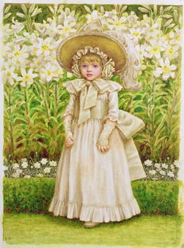 Child in a White Dress, c.1880 Reproduction de Tableau