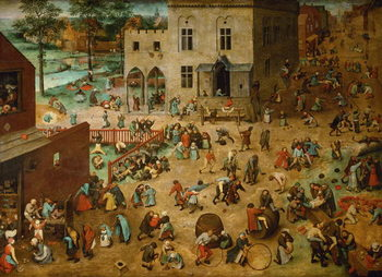 Children's Games, 1560 Reproduction de Tableau