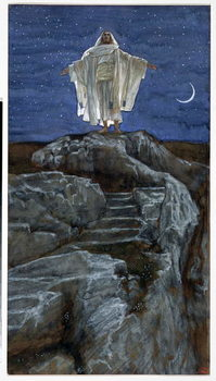 Reproducción de arte  Christ Going Out Alone into a Mountain to Pray, illustration for 'The Life of Christ', c.1886-94