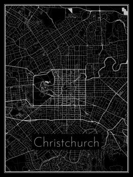 Mapa Christchurch