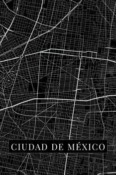Carte Ciudad de México black