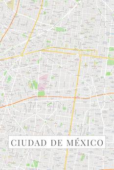 Carte Ciudad de México color