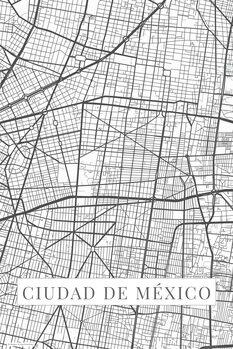 Carte Ciudad de México white