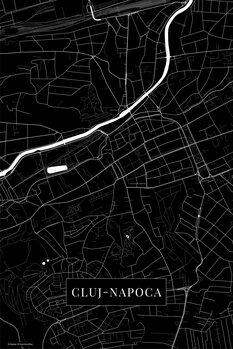 Mapa Cluj Napoca black