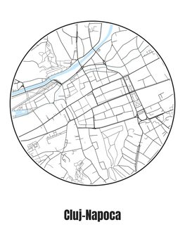 Mapa de Cluj-Napoca