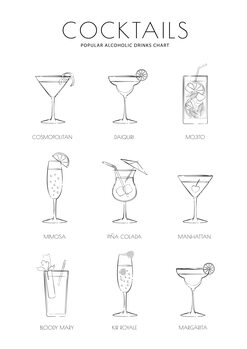Ilustrace Cocktails