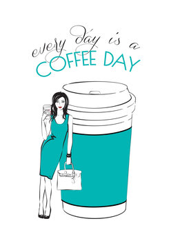 Ilustrace Coffee Day