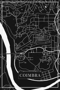 Mapa Coimbra black