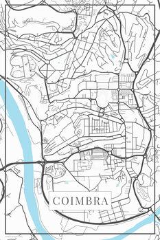 Mapa Coimbra white