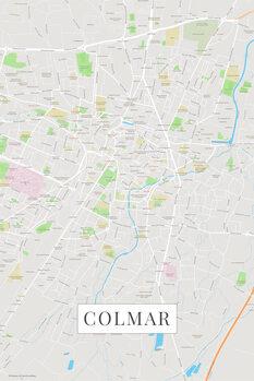 Mapa Colmar color