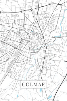Mapa Colmar white