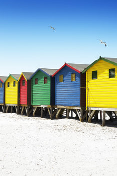 Kunstfotografie Colorful Beach Huts on Muizenberg