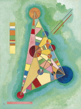 Εκτύπωση έργου τέχνης Colorful in the triangle