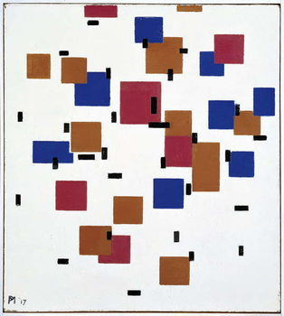 Obrazová reprodukce Composition in Colour A, 1917