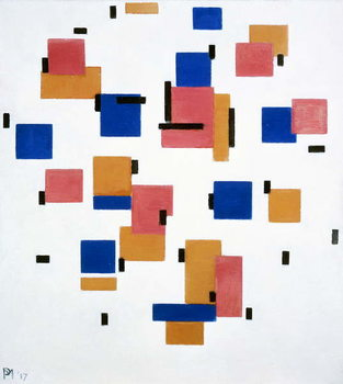 Obrazová reprodukce Composition in colour B, 1917