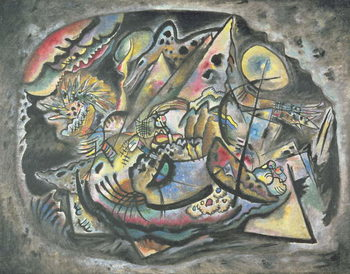 Composition: The Grey Oval, 1917 Kunsttryk