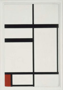 Reproducción de arte Composition with Red, Black and White, 1931