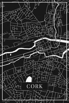 Mapa Cork black