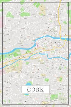 Mapa Cork color