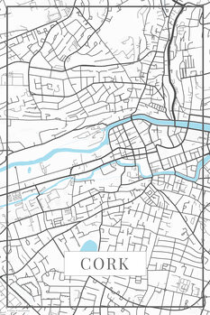 Mapa Cork white