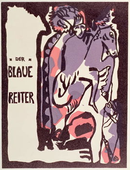 Cover of Catalogue for Der Blaue Reiter Reproduction de Tableau