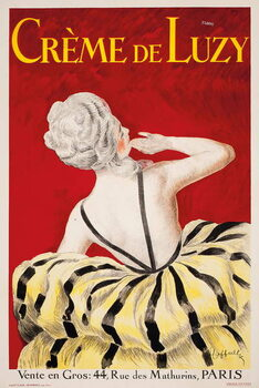 Kunstdruk 'Creme de Luzy', an advertising poster for the Parisian cosmetics firm Luzy