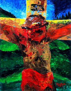 Kunstdruk Crucifixion- it is finished, 2009