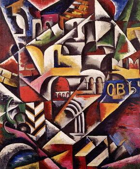 Obrazová reprodukce Cubist cityscape, 1914