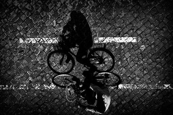 Kunstfotografie Cycling with Dad...
