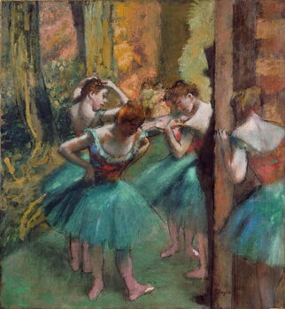 Kunsttryk Dancers in pink and green (Dancers, Pink and Green)
