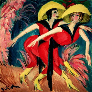 Kunstdruk Dancers in Red, 1914