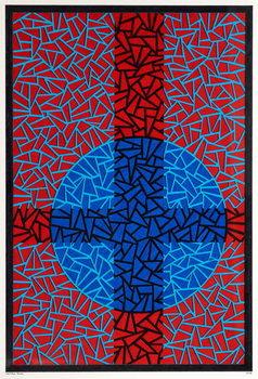 Deep Blue Placebo Kunstdruk