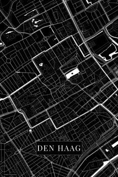 Mapa Den Haag black