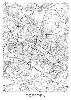 Mapa Dresden