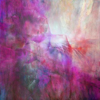 Illustrazione drifting - composition in purple