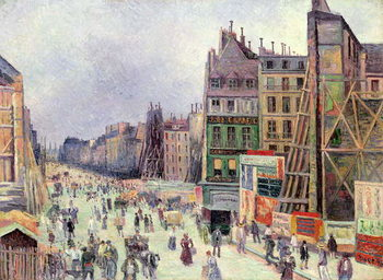Drilling in the rue Reaumur, 1896 Kunstdruck