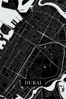 Mapa Dubai black