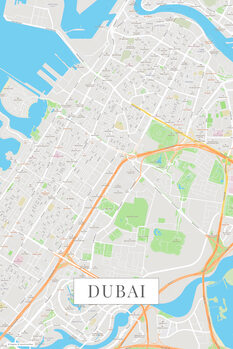 Mapa Dubai color
