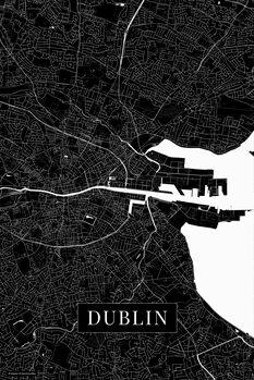 Mapa Dublin black