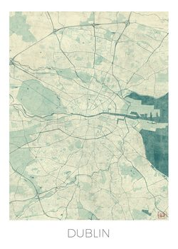 Zemljevid Dublin